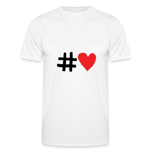 #Love - Funktionsshirt til herrer