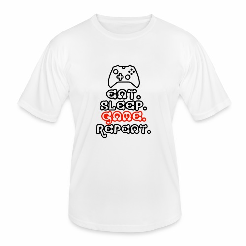 Eat. Sleep. Game. Repeat. - Männer Funktions-T-Shirt
