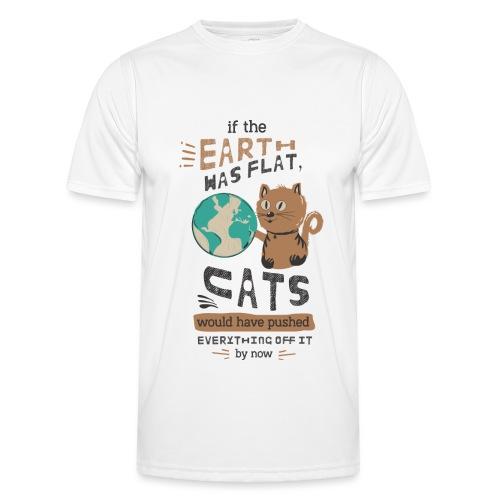 IF THE EARTH WAS FLAT - Funksjons-T-skjorte for menn