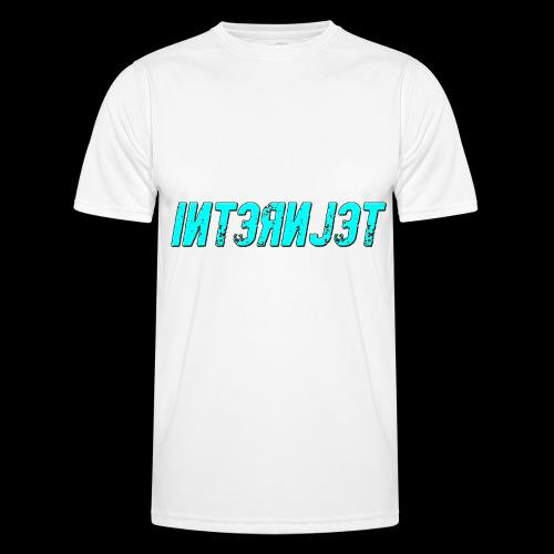 Internjet cyan - Miesten tekninen t-paita
