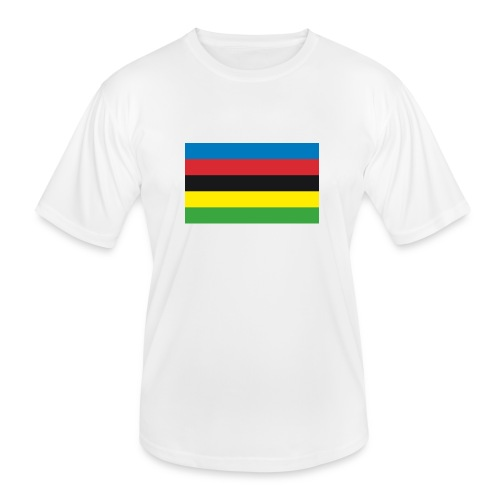 Cycling_World_Champion_Rainbow_Stripes-png - Functioneel T-shirt voor mannen