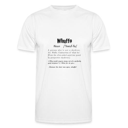 Whuffo black - Miesten tekninen t-paita