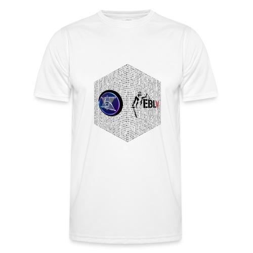 disen o dos canales cubo binario logos delante - Men's Functional T-Shirt