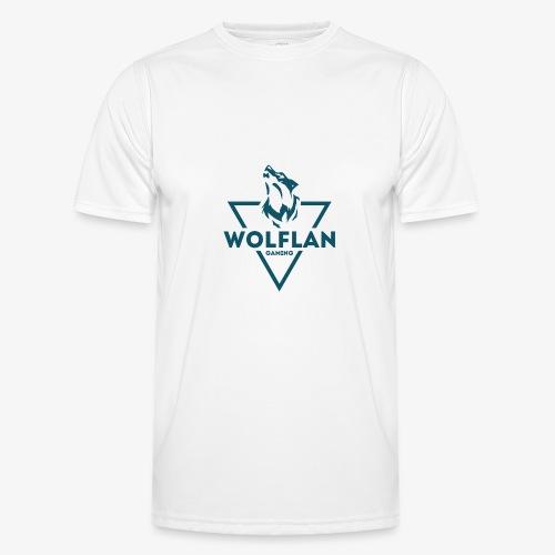 WolfLAN Logo Gray/Blue - Men's Functional T-Shirt