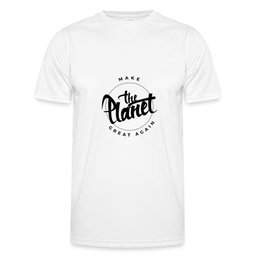 MakeThePlanetGreatAgain Organic Shirt White - Men's Functional T-Shirt