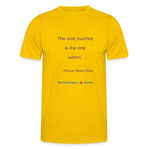Rainer Maria Rilke The journey within Philosopher - Functioneel T-shirt voor mannen