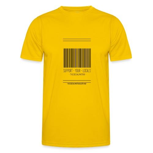STEUN JE LOKAAL - Functioneel T-shirt voor mannen