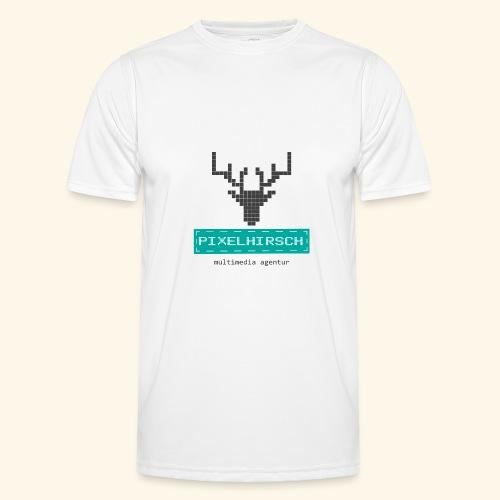 PIXELHIRSCH - Logo - Männer Funktions-T-Shirt
