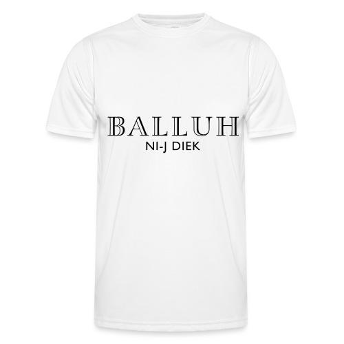 BALLUH NI-J DIEK - wit/zwart - Functioneel T-shirt voor mannen