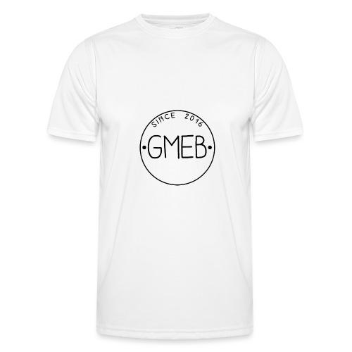 doorschijnend logo ZWART - Functioneel T-shirt voor mannen