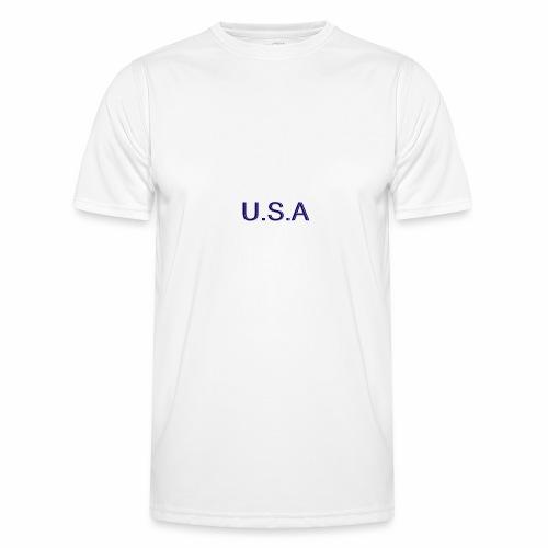 USA LOGO - T-shirt sport Homme