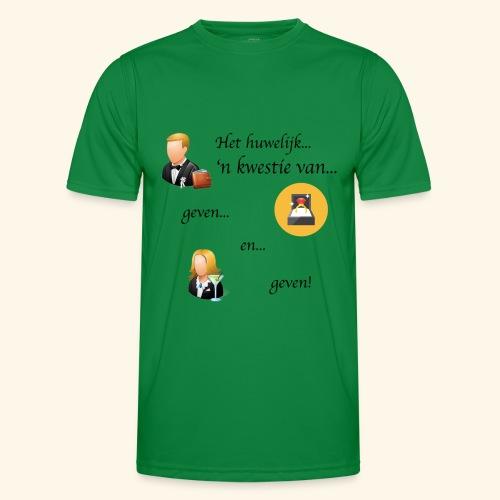 Het huwelijk... - Functioneel T-shirt voor mannen