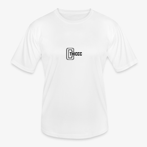 thiccc logo WHITE and BLACK - Men's Functional T-Shirt
