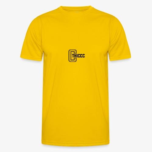 thiccc logo White - Men's Functional T-Shirt