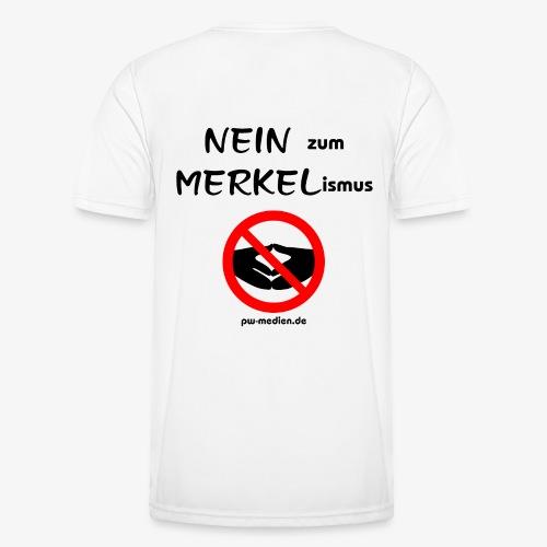 NEIN zum MERKELismus - Männer Funktions-T-Shirt