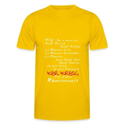La Réunion Kosement kreol T-Shirt Homme - T-shirt sport Homme