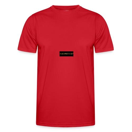 orange writing on black - Men's Functional T-Shirt