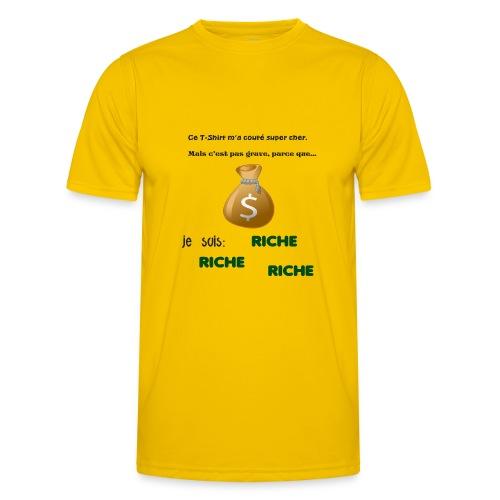 Je suis riche. - T-shirt sport Homme