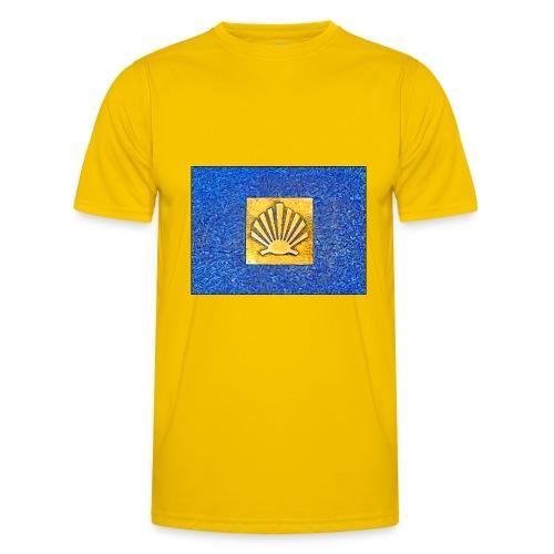 Scallop Shell Camino de Santiago - Men's Functional T-Shirt