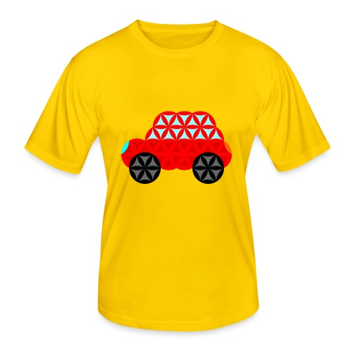 The Car Of Life - M01, Sacred Shapes, Red/R01. - Men's Functional T-Shirt