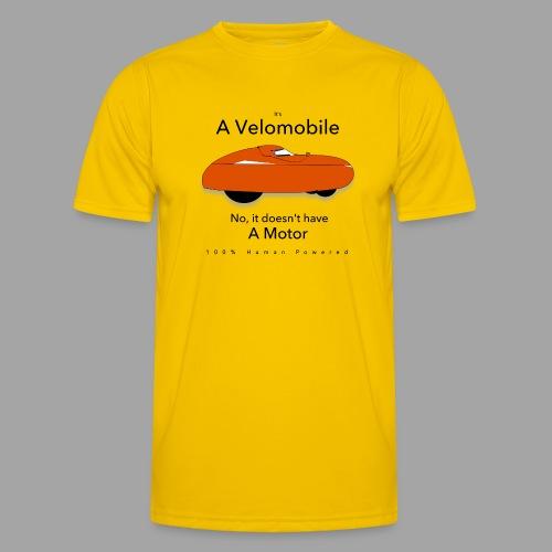 it s a velomobile black text - Miesten tekninen t-paita