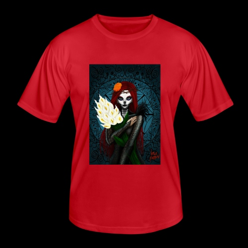 Death and lillies - Men's Functional T-Shirt
