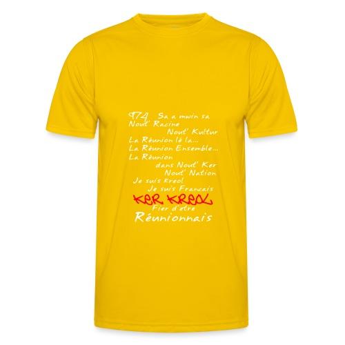 La Réunion Fier D'Être Réunionnais T-Shirt Homme - T-shirt sport Homme