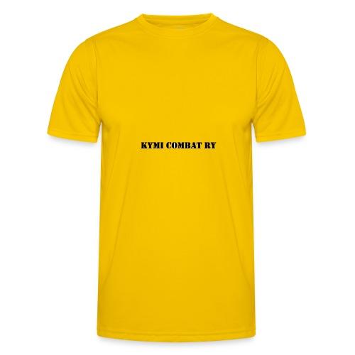 kc musta teksti transparent png - Miesten tekninen t-paita