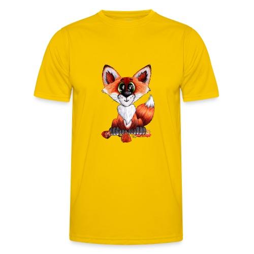 llwynogyn - a little red fox - Miesten tekninen t-paita