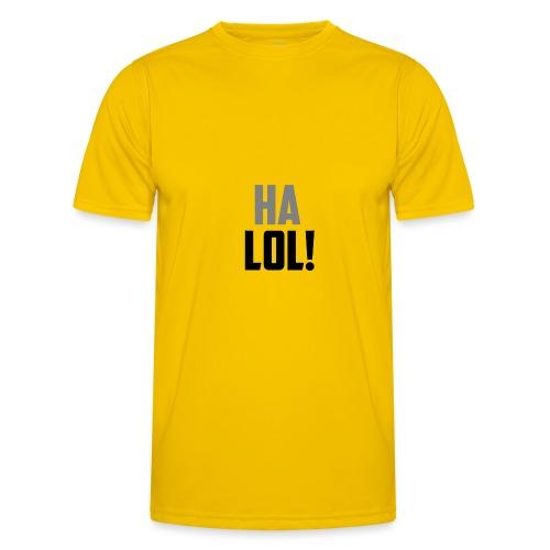 The CrimsonAura 'Ha LOL!' Stream Quote. - Men's Functional T-Shirt