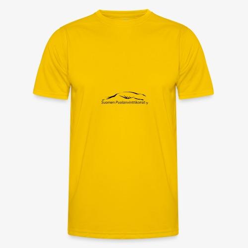 SUP logo musta - Miesten tekninen t-paita