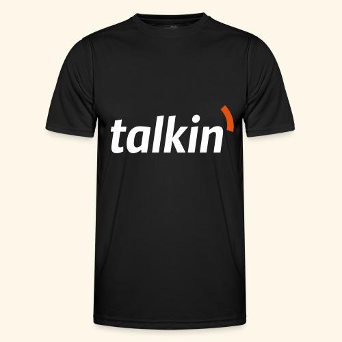 talkin' white on gray - Männer Funktions-T-Shirt