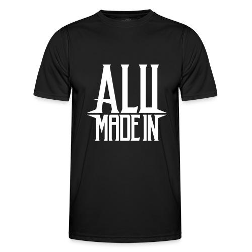 logo_alumadein_vecto_blan - T-shirt sport Homme