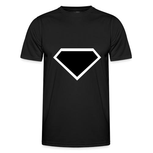 Diamond Black - Two colors customizable - Functioneel T-shirt voor mannen