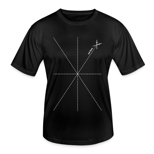 Schnittlinien logo - Männer Funktions-T-Shirt