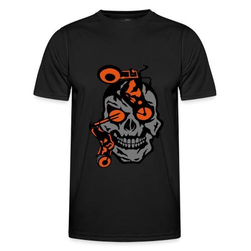 tete mort moto motrocycle oeil skull - T-shirt sport Homme