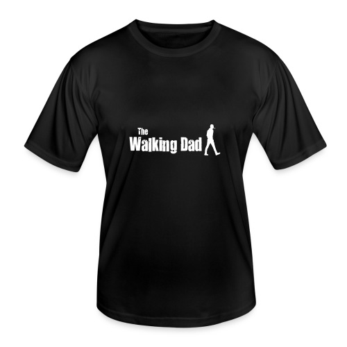 the walking dad white text on black - Men's Functional T-Shirt