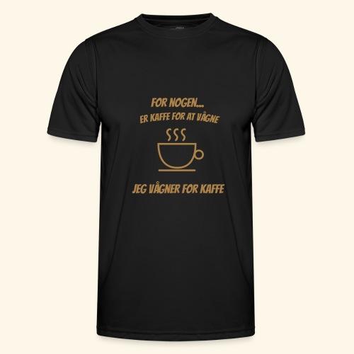 Jeg vågner for kaffe - Funktionsshirt til herrer