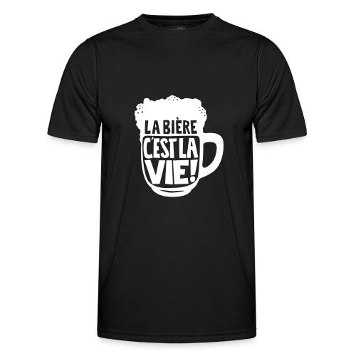 bière, la bière c'est la vie - T-shirt sport Homme