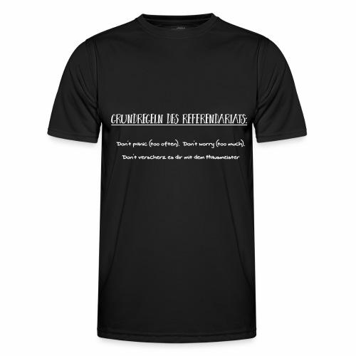 Grundregeln des Referendariats - Männer Funktions-T-Shirt