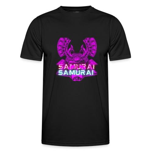 Cuberpunk samurai asian bushido shogun fighter - Funkcjonalna koszulka męska