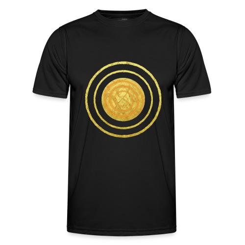 Glückssymbol Sonne - positive Schwingung - Spirale - Männer Funktions-T-Shirt