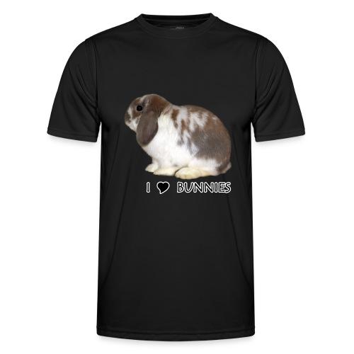 I Love Bunnies Luppis - Miesten tekninen t-paita
