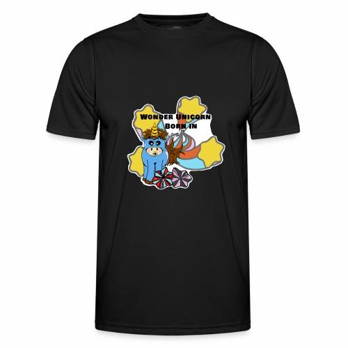 Une merveilleuse licorne est née (pour garcon) - T-shirt sport Homme