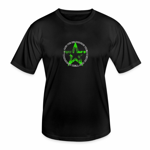 ra star slogan slime png - Männer Funktions-T-Shirt