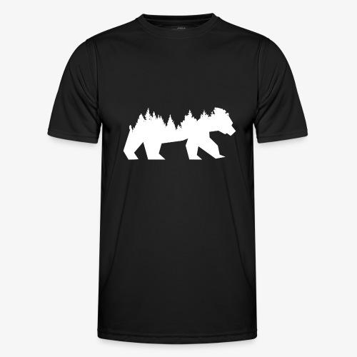 Bear Wald - Männer Funktions-T-Shirt