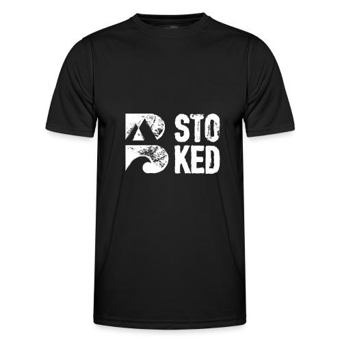 bstoked logo white - Men's Functional T-Shirt