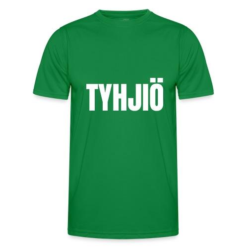 TYHJIÖ Logo White - Miesten tekninen t-paita