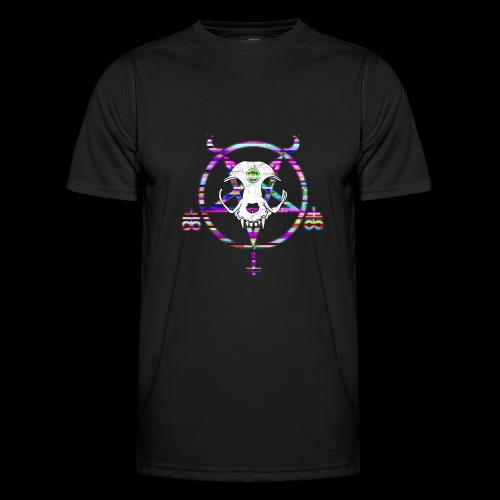glitch cat - T-shirt sport Homme
