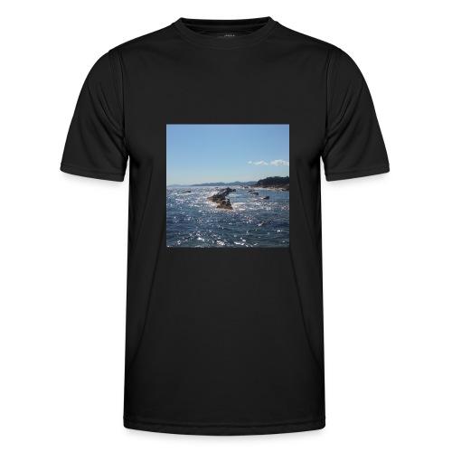 Mer avec roches - T-shirt sport Homme